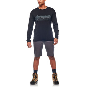 Icebreaker M's Tech Lite Haute Route LS Crewe Shirt black